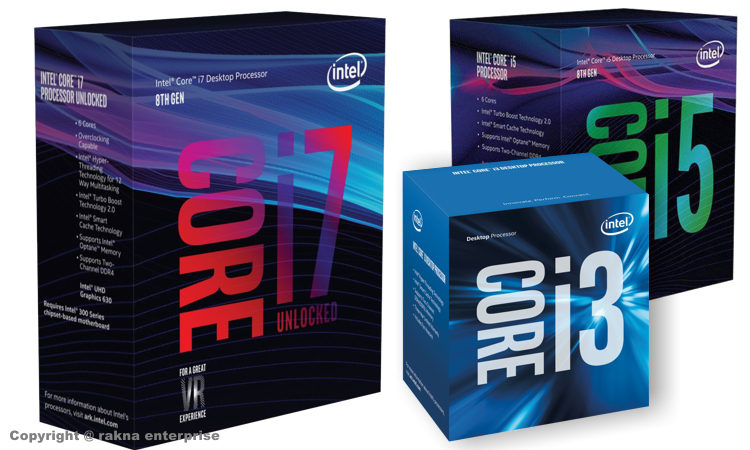 CPU - Intel i3, i5, i7, Core 2 Duo - QuadCore
